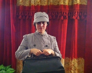 Sharon Twickler as Nellie Bly at the Barnum Museum