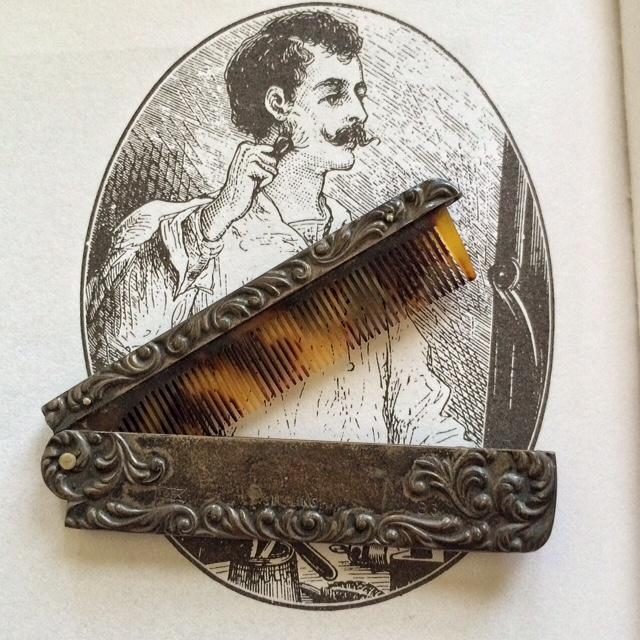 Victorian Mustache Comb