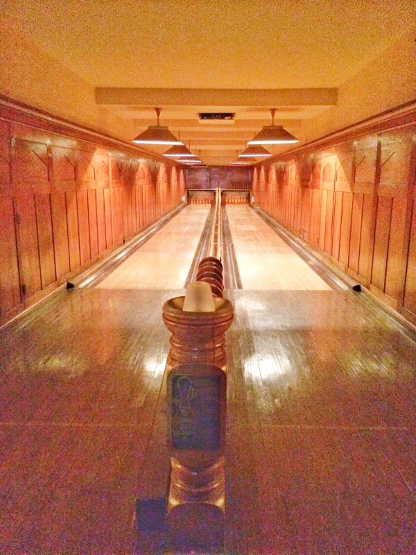 Nemours estate bowling alley