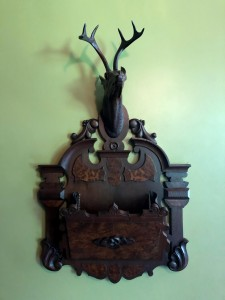 Eastern Elk magazine rack in the Armour Stiner Octagon House