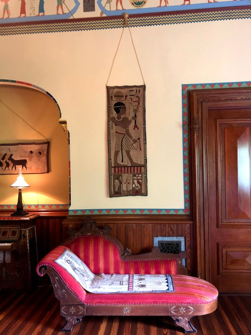 Egyptian Revival room of the Armour Stiner Octagon House